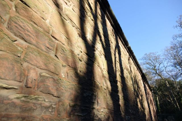 Lovely shadows on the sandstone walls.