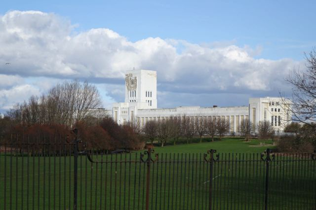 The long empty Littlewoods Building.