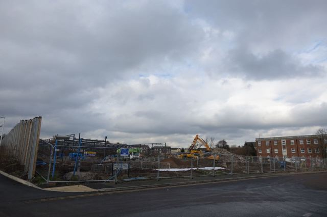 Some of the former hospital's been knocked down now.