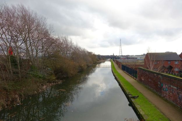 I cross the Leeds and Liverpool canal along Linacre Lane.