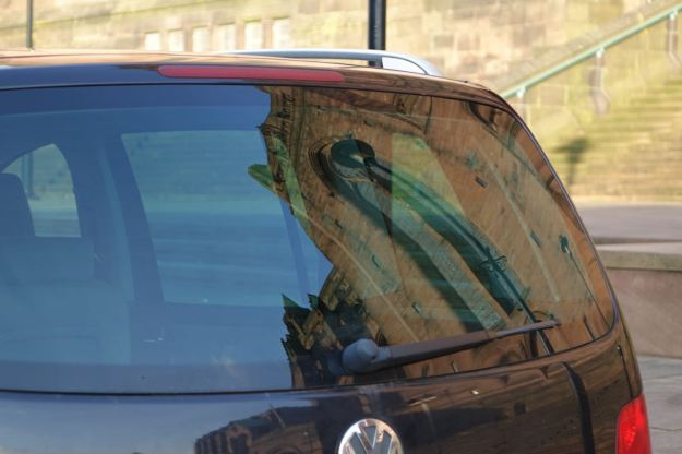 Even looks good reflected in a car window.
