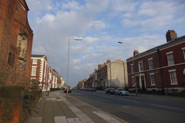 Along Georgian Upper Parliment Street.