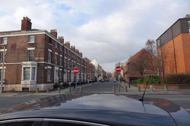 Looking across to Percy Street.