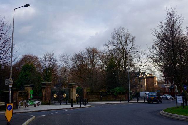 Past Princes Park Gates.