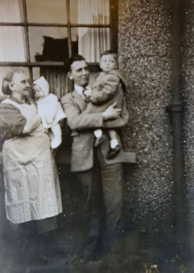 I'm the one in the duffel coat, 2 years old.