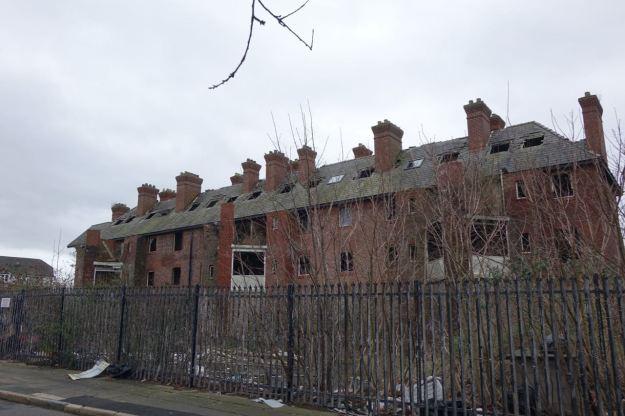 Around the 45 restored flats of Eldon Grove.