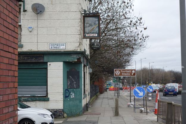 Along Scotland Road, 'The Parrot' long closed down.