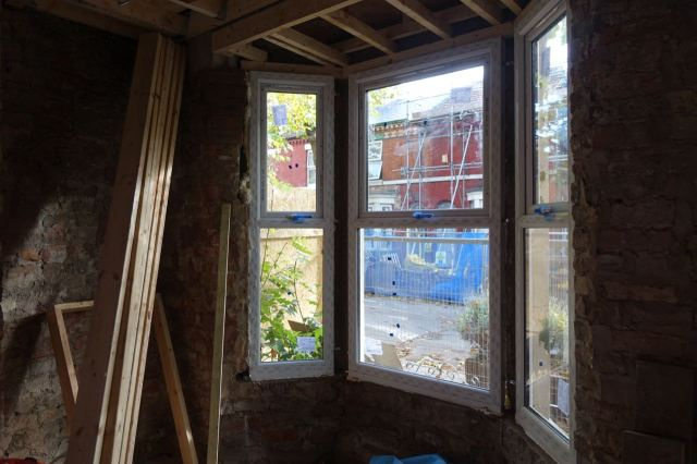 And the windows are in.