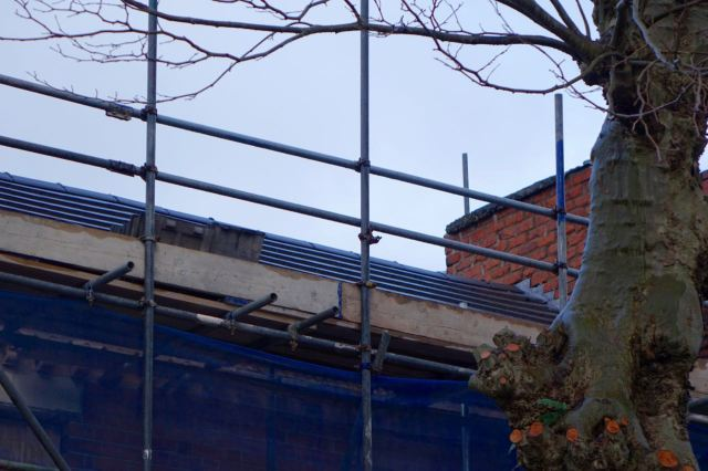 The new roof is on all three properties.
