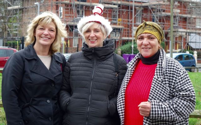 But Ann, Erika Rushton of the 4 Streets CLT and local resident and chef Rose Olive make the best of it anyway.