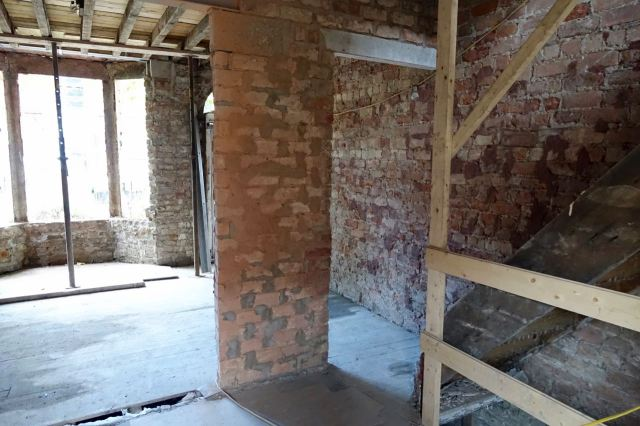 Only two weeks in we're down to the bricks, some internal demolition done...