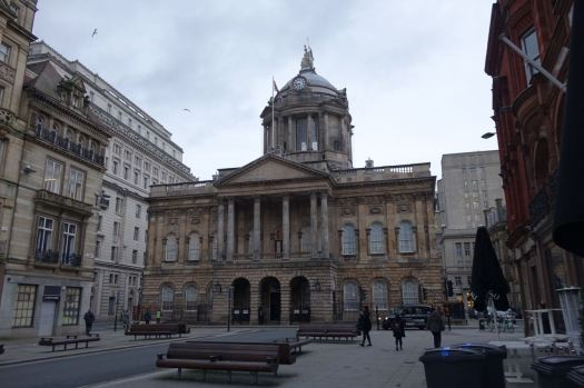 To Liverpool Town Hall.