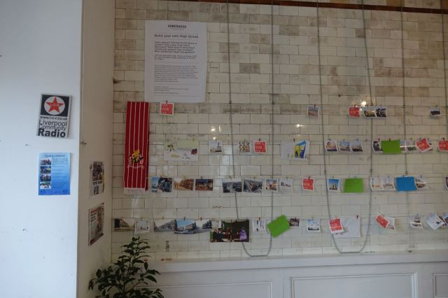 Where we are all designing our own new piece of the high street, here on our ideas wall.