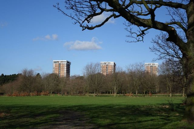 This heaven with tower blocks.