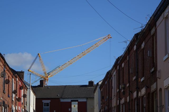 Soon the cranes will be gone and the remaining streets won't miss them.
