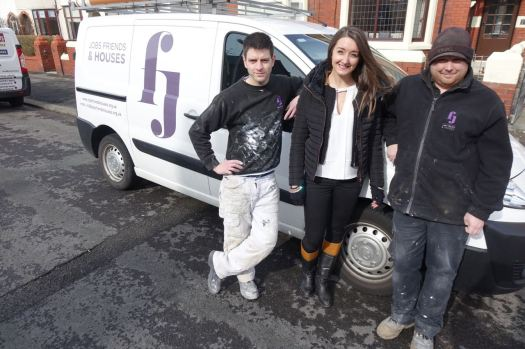 On site in Blackpool with Jobs Friends & Houses: Steve, Katy and Phil.