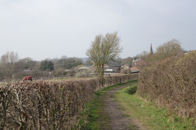 Thurstaston village.