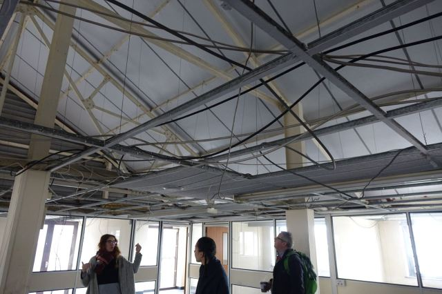 So far a lot of the work Make Liverpool have already done has been ripping out partitions and taking down false ceilings.