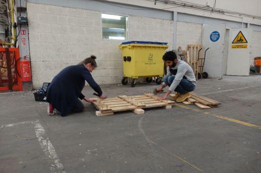 Making pallet boxes.