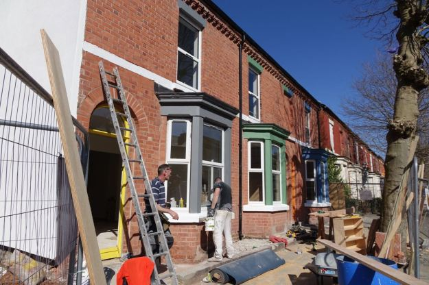 Our Community Land Trust houses are well on now.
