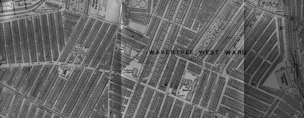Here's the area in 1905, the school at the centre of the map.