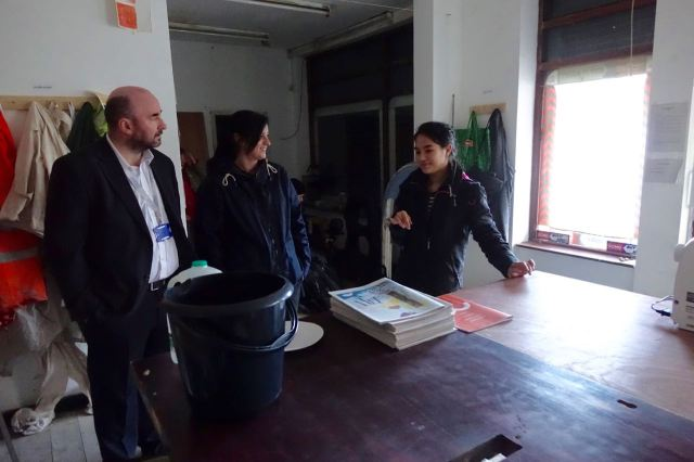 Over in the Granby Workshop Sufea Mohamad Noor talks a couple of our many visitors through what they're about.