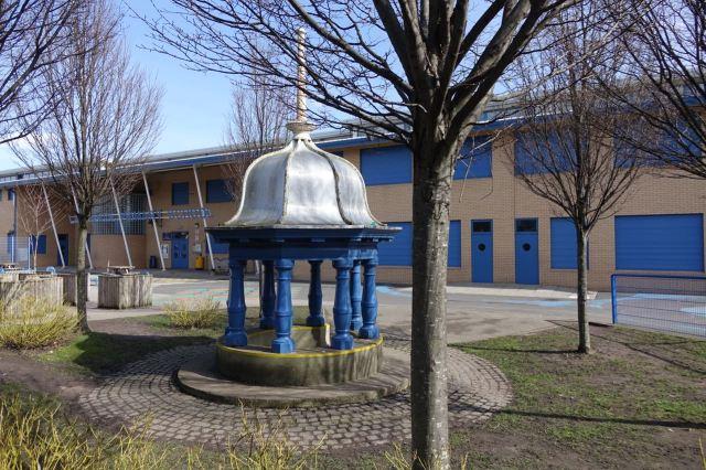 Piece of the original school kept here.
