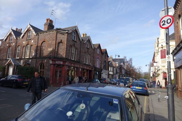 Then walk along a busy holiday Lark Lane.