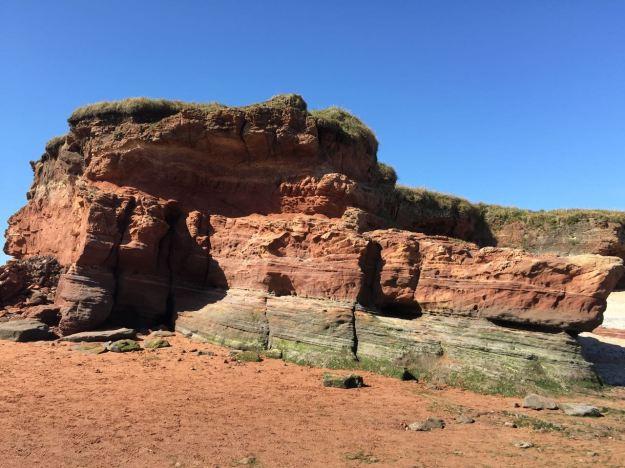 The Bunter Sandstone Rocks close-up
