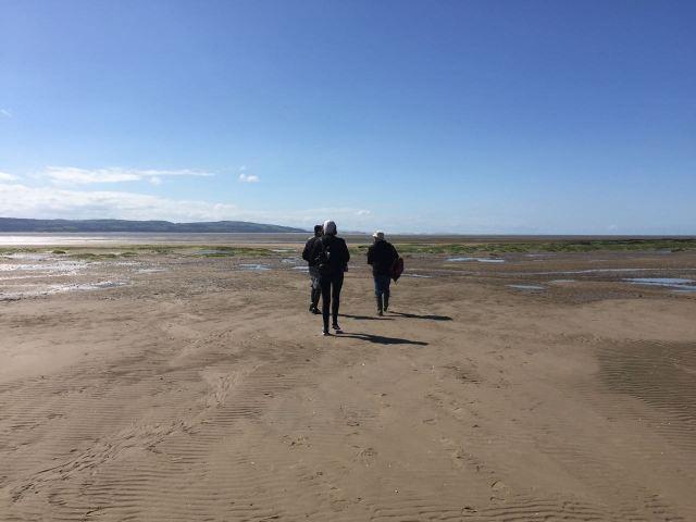 Then someone suggest we walk on the quieter bit