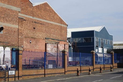 Make Liverpool is the blue building next door to Kazimier's new 'Invisible Wind Factory'