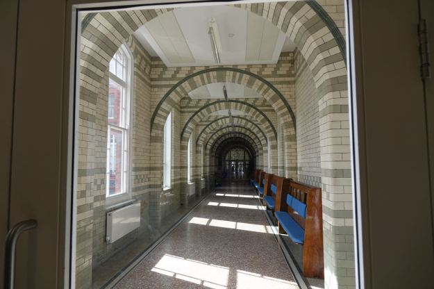 Or quiet conversations in the sunlit corridors.
