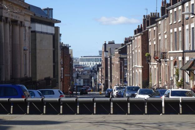 Looking down Mount Street to the river.