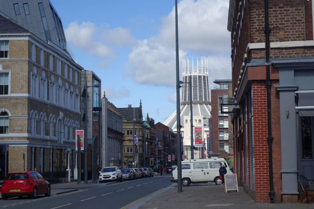 And along Hope Street, Catholic Cathedral at the other end.