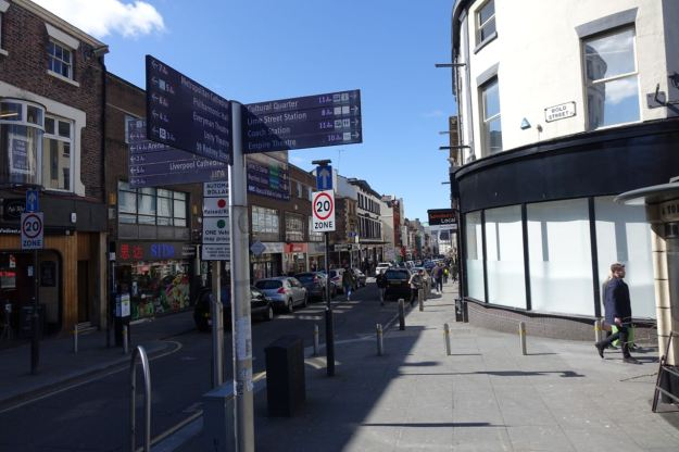Into Bold Street. Town's main street as far as I'm concerned.