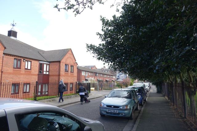 Into Grange Terrace, where I lived for a few months back in 1991.