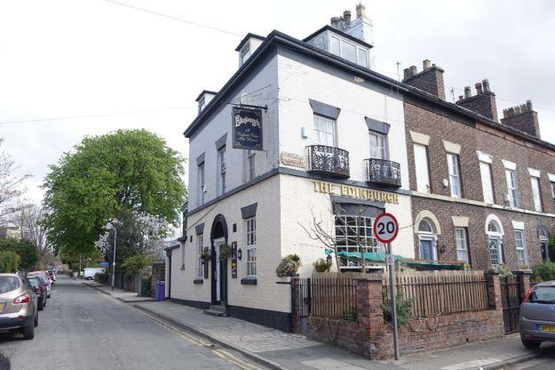 The splendid Edinburgh pub on the corner.
