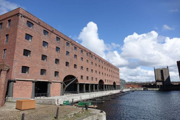 With the Stanley Dock behind it.