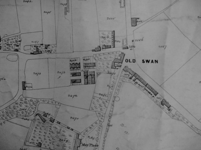 The same road pattern from the 1830s, when Old Swan was a village.
