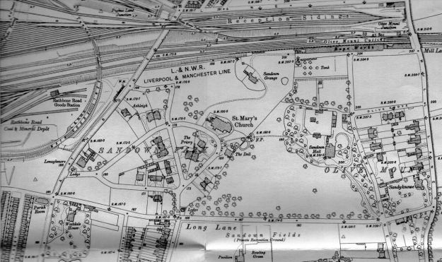 The area in 1905. !00 years before the Hall went.