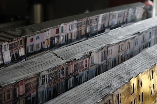 Model of Granton Rd made by Janet Brandon, original photographs Jessica Doyle.