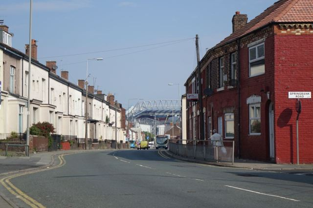 As usual in Anfield I get off the 27 bus at the top end of Oakfield Road.
