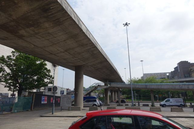 Under the flyovers that memorialise Liverpool's 'Streets in the Sky' Shankland plans of the 1950s and 60s.