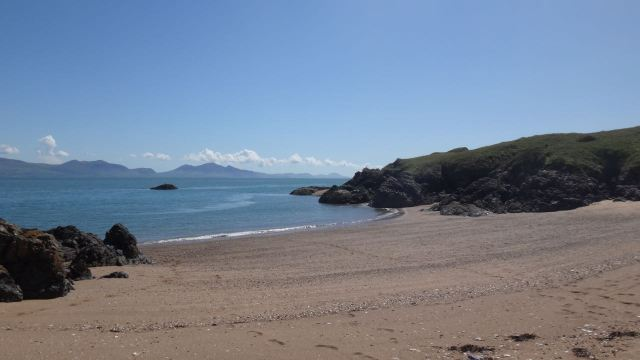 Today, as always here, we are walking to Llanddwyn.