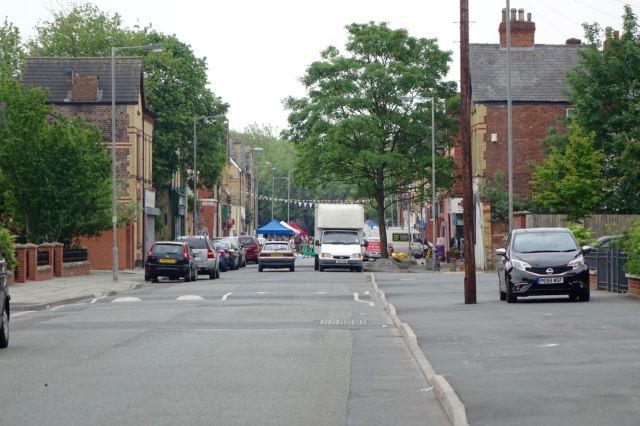 Walking along Granby Street.