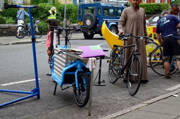 Fixing bikes, having bikes donated, passing them on and causing general outbreaks of joy.