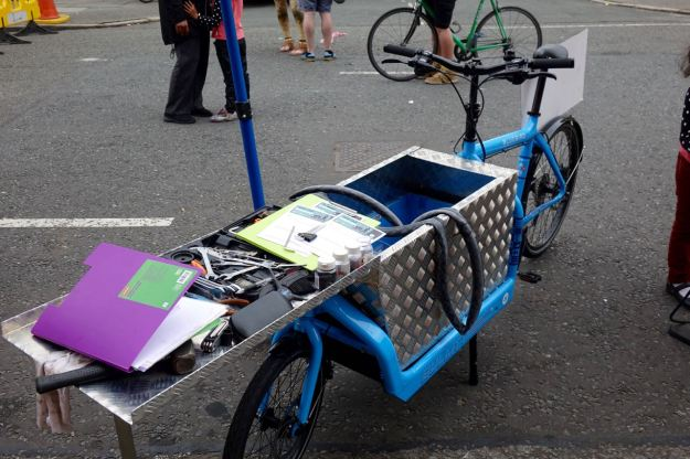 With their fantastic bike toolboxes.