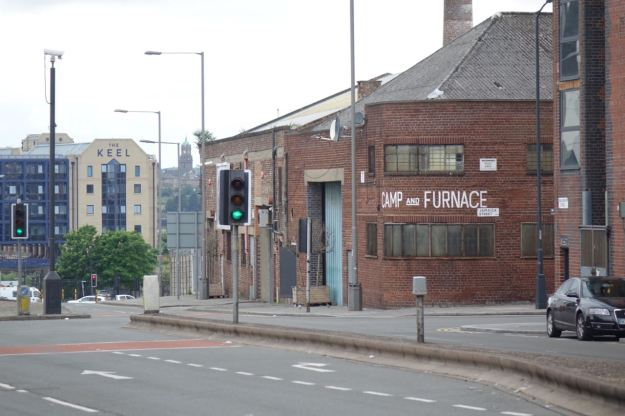 Turning left opposite the Camp and Furnace.