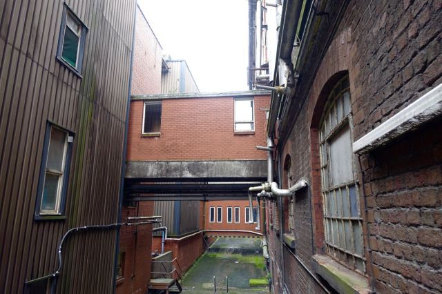 Over the summer the Biennial will be in the more modern warehouse across the alley here.