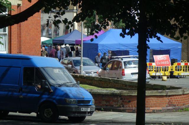 The Street Market's already underway.